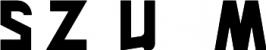 logotyp, czarny napis SZUM
